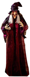 Knl Store 71 Life Size Hanging Animated Talking Witch Halloween Haunted House P