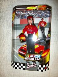 Nascar Official 94 Barbie Loves Sports 1999 Doll Collectors Edition Vintage