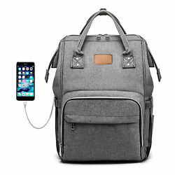 Large Capacity Travel Backpack Diaper Bag Nappy for Baby Care Stylish Waterproof $17.76