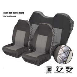 Car 5 Seats Covers Full Set Waterproof Heavy Duty Canvas For High Back Cars Seat