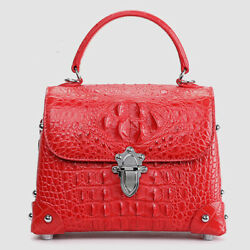 Siamese Crocodile Skin Leather Womenand039s Luxury Small Handbags Sling Shoulder Bags
