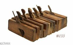 Old Antique Parts As Found Wood Wooden Molding Planes Carpenter Woodworking Tool