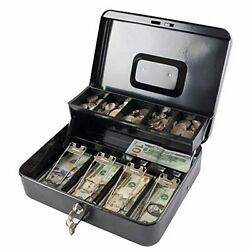 Large Cash Box With Combination Lock,money Box With Cash Tray, Lock Safe Box Wit