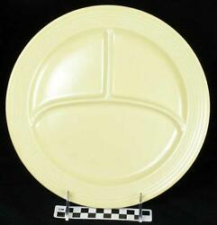 Vintage Fiesta Ivory Divided Compartment Grill Sectional Dinner Plate Hh 189