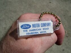 Vintage 1960and039 S Ford Accessories Nos Promo Fomoco Auto Key Holder Fob Part Old