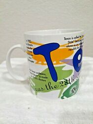 Texas Starbucks Coffee Mug Cup State Of Beans Collection,1997 20 Oz