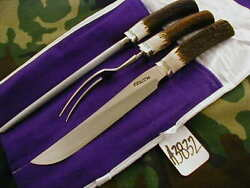 Randall Knife Knives 6-9, 3 Piece Carving Set,ss,nsrh,bl.-al.s,stag  A3832