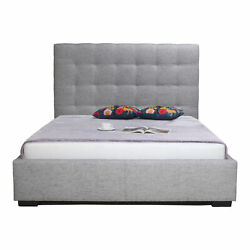 Moeand039s Home Contemporary Belle King Light Grey Fabric Storage Bed Rn-1001-29