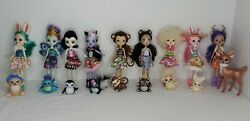 Enchantimals Lot Of 9 Dolls And 9 Animals. You Get Everything Shown.