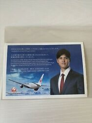 Departure Day Jal Boarding Certificate Postcard Shohei Ohtani Los Angeles Angels