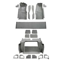 For Chevy Corvette 80 Carpet Essex Replacement Molded Charcoal Complete Carpet