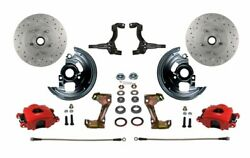 Leed Brakes Rfc1007-fa3x Front Disc Brake Kit W/2 In. Drop Spindles Gm Chevy Ii/