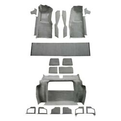 For Chevy Corvette 80 Carpet Essex Replacement Molded Gray Complete Carpet Kit W