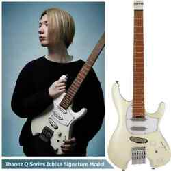 Ibanez Ichi10 Vintage White Matte Ichika With Soft Case Ships Safely From Japan