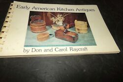 Vintage Early American Kitchen Antiques Walnut Knife And Fork Butter Molds Tins