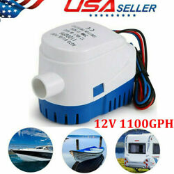 Automatic Submersible Boat Bilge Water Pump W/ Auto Float Switch 12v 1100gph