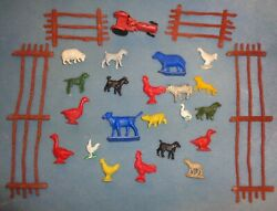20 Vintage 1960s Marx Playset Farm Animals And More Wow