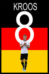 361714 Euro Soccer 2020 Football Germany 8 Toni Kroos Art Room Poster Affiche
