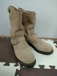 Red Wing Rare Red Wing Pt91 8268 Suede Engineer Boots 9.5d Free Shipping No.854