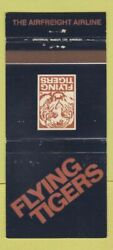 Matchbook Cover - Flying Tigers Air Freight Airline 30 Strike