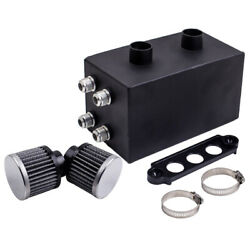 Racing Oil Catch Can Breather 4 Port Series Tank Sr For Honda Civic Integra