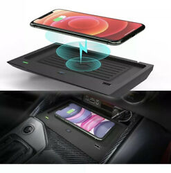 15w Qi Wireless Fast Charger Car Dashboard Mount Cradle Cell Phone Holder Stand