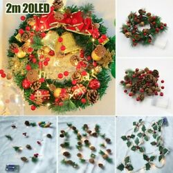 Pine Cone Led String Fairy Lights Battery Christmas Tree Garland Party Decor 2m