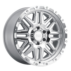 4-black Rhino Alamo 20x9 6x139.7 12mm Silver W/ Mirror Face And Stainless Bolts
