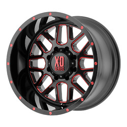 4-xd Xd820 Grenade 20x10 8x170 -24mm Satin Black Milled With Red Clear Coat