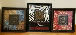 Wall Art 3 Piece Set Pictures Very Nice