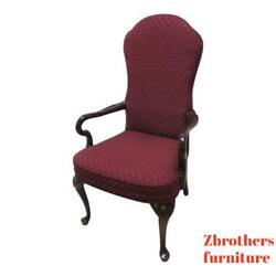 Century Furniture Queen Ann Shell Carved Fireside Lounge Club Living Room Chair