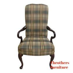 Century Furniture Queen Ann Carved Fireside Lounge Club Living Room Chair