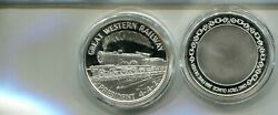 Great Western Railroad Train 1 Ounce Silver Round Prooflike 6788p