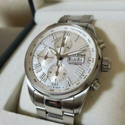 Rare Louis Erard Shell Dial Heritage Sport Chronograph Watch Ship From Jpn F/s