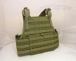 Flyye Molle Pc Plate Carrier Tactical Armor Vest - Ranger Green Size S Cordura