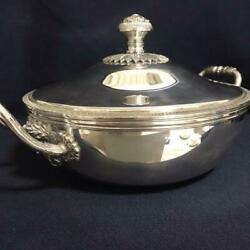 Christofle Antique Silver Handle Pot Gallia Sterling Silver Plate F/s