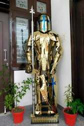 Medieval Rust Free Stainless Steel Knight Suit Of Armor Templar Full Body Armor