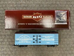 + Bachmann Big Haulers G Scale 93205 Great Central Fast Freight Line Reefer Car