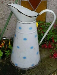 Enameled French Pitcher Broc Enamelware Not Coffee Pot