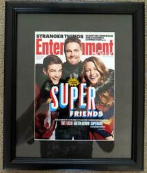 Entertainment Weekly Cw Cover Supergirl Flash Arrow Signed By Marc Guggenheim