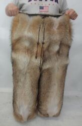 Brand New Natural Coyote Fur Pants Men Man Size All