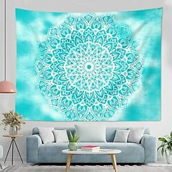 Blue Mandala Tapestry Wall Hanging Bohemian Hippie Wall Tapestry for Bedroom