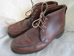 Gokey 690 Vintage Brown Leather Heavy Gro-cord Rubber Sole Boots 9.5 10