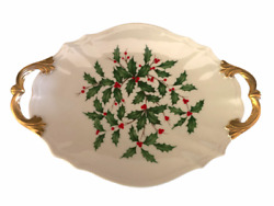 Lenox China Holiday Serving Tray Special Dimension Shape L5