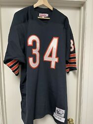 100 Authentic Chicago Bears 1975 Walter Payton Mitchell And Ness Nfl Jersey 52