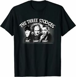 The Three Stooges Opening Credits T-shirt Funny Black Vintage Gift Men Women Tee