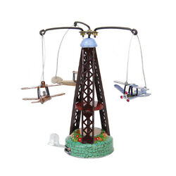 Vintage Wind-up Rotated Airplane Carousel Clockwork Collectible Tin Toys Gifts