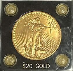 1928 20 Saint Gaudens With Motto Gold Double Eagle Uncirculated