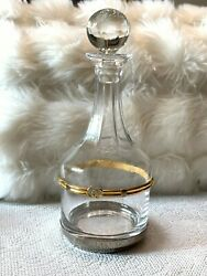 Vintage Glass Crystal Decanter With Stopper