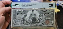 Fr.248 2 1896 Educational Silver Certificate Pmg Very Fine 20